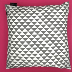 Housse de Coussin en SHUNGITEX® 40 x 40 cm motif triangles gris de Catalogue Shungite